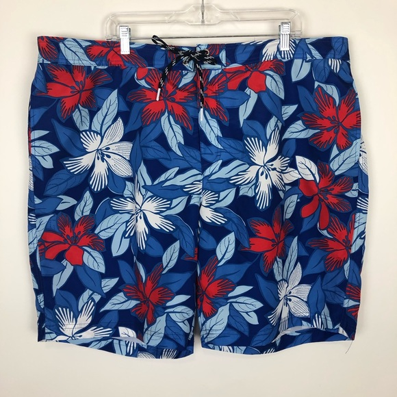 44ac31392c Lands' End Swim | Lands End Nwt Trunks Xxl Lined Hawaiian Print ...
